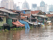 Flood in the slums