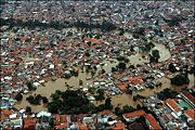 The slums are vulnerable to flooding